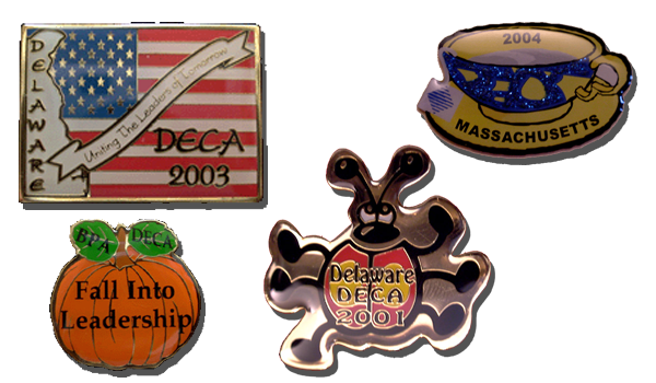 Custom DECA trading lapel pins