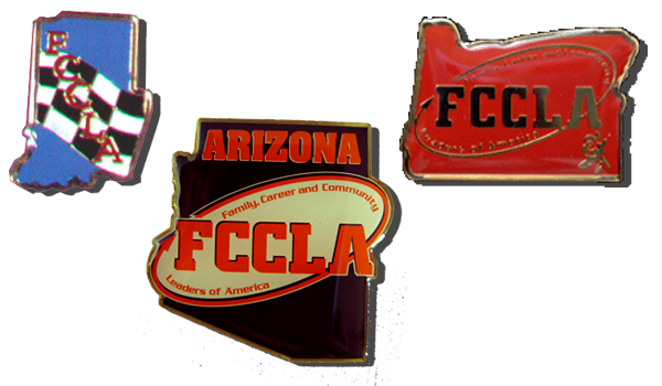 Custom FCCLA Lapel pins
