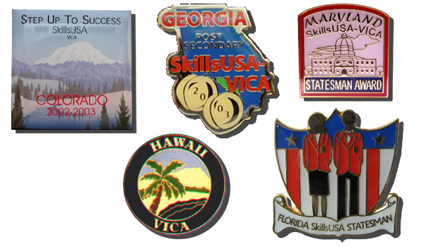custom skillsUSA trading pins and medals