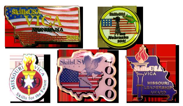 custom skillsUSA trading pins and medals