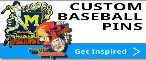 cheap custom baseball trading pins